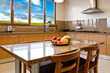 Interior design series: classic and modern kitchen with landscap