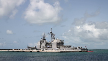 Navy Destroyer Shot Two, Parked off Key West Florida