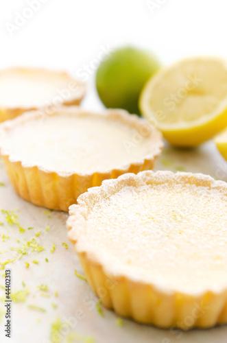 Appetising lemon tarts