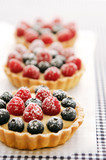 Delicious berry tarts
