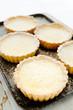 Tray of freshly baked lemon tarts