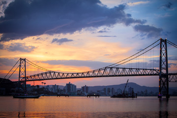 Bridge in Florianopolis at Sunset