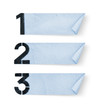 1, 2, 3, - Number paper and paper banners isolated on white back