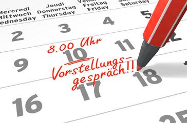 Kalender-Serie: Termin Vorstellungsgespräch