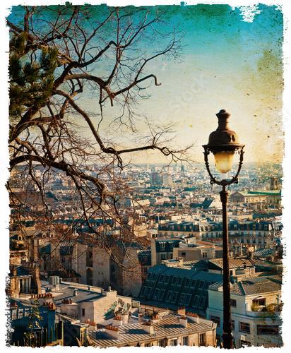 retro style Parisian streets - 44409952