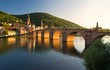 canvas print picture - Alte Brücke in der Abendsonne