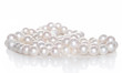 String of pearls on white background - 44413550