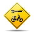 Señal amarilla reparacion de ciclomotores
