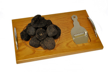 summer truffles on a trencher