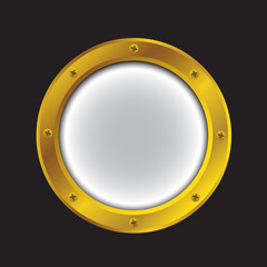 Porthole bright gold color