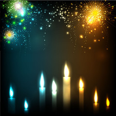Illuminating candles theme for Diwali or Deepawali festival. EPS