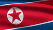 the North Korean flag, perfect seamless loop