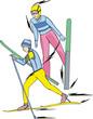 Skiing. Nordic Combined