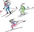 Biathlon and Alpine skiing