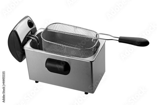 deep fryer isolated on white background ( clipping path)