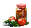 canned vegetables and fresh
