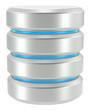 Database. Abstract Database Icon. Isolated on White.