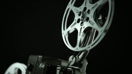 Film reel of an 8mm vintage Projector