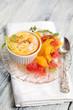 Creme Brulee mit Orangen und Graipfruitsalat