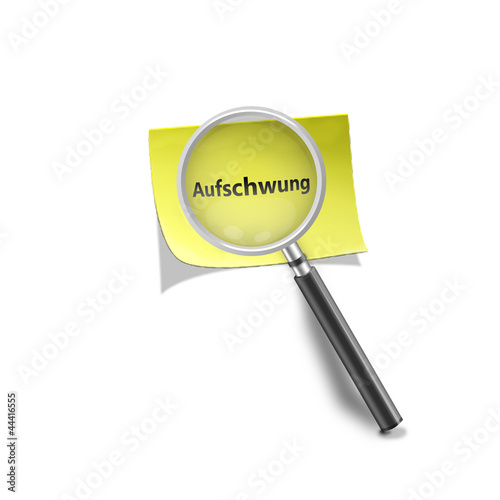Lupe Haftnotis Aufschwung magnifying glass self stick note