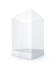 White Glass Rectangle Box.