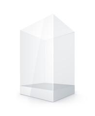 White Glass Rectangle Box.