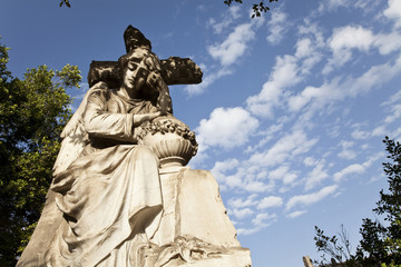 Madonna statue at the cementery