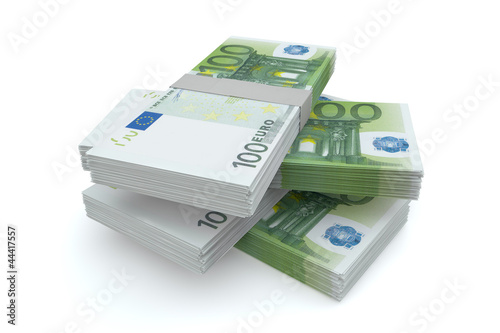 100 Euros money stack