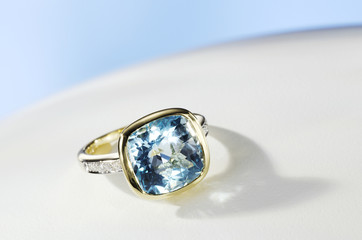 Aquamarin Ring,