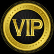 Vip golden label, vector illustration