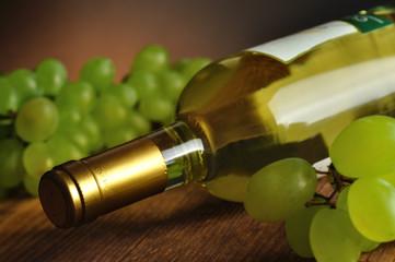Bottle of fine italian white wine