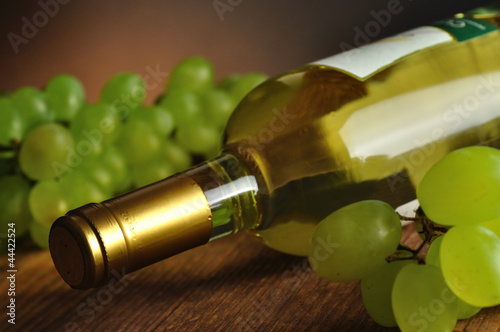 Bottle of fine italian white wine