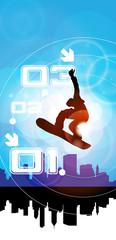 Snowboarder. Winter sport