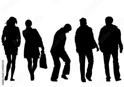 Womens and man silhouette