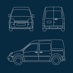 Compact delivery van blueprint
