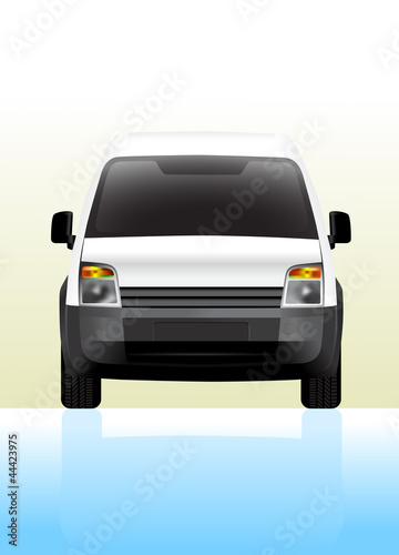 Delivery van small front view