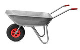 Wheelbarrow isolated on white