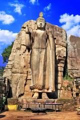 monolith Buddha statue - Awukana, Sri lanka