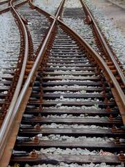 gleise der eisenbahn