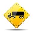 Señal amarilla camion