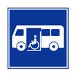 Señal autobus para minusvalidas