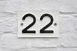 Hausnummer 22