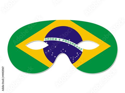 masque carnaval brésil