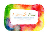 watercolor frame isolated