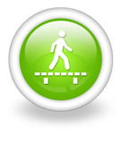 "Light Green Icon ""Walk On Boardwalk"""