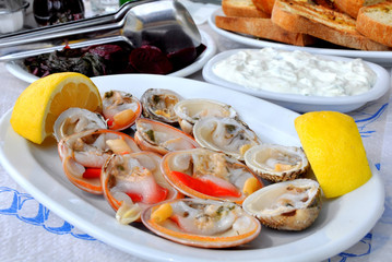Cockles & clams platter