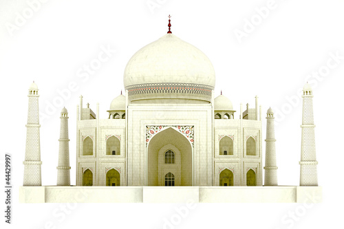3d illustration of world famous Taj Mahal monument