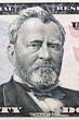 Dollar Geldscheine. Detail. Grant