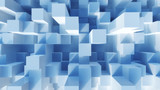 Abstract image of cubes background in blue toned - 44430199