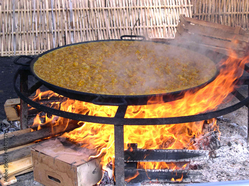 Gigantic Dish of Paella in Nerja on the Costa del Sol Spain